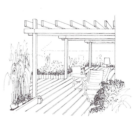 gartenlaube pergola planen und bauen gartenplanung gartenwerkstatt. Black Bedroom Furniture Sets. Home Design Ideas